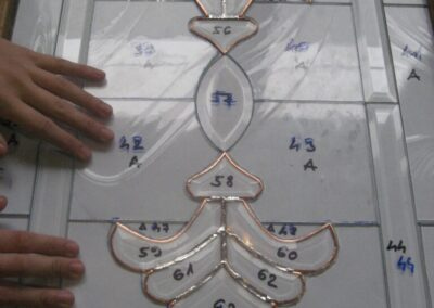 work process – stained glass