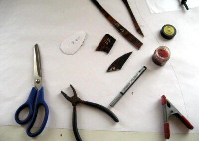 arbeitsprozess - bleigläser